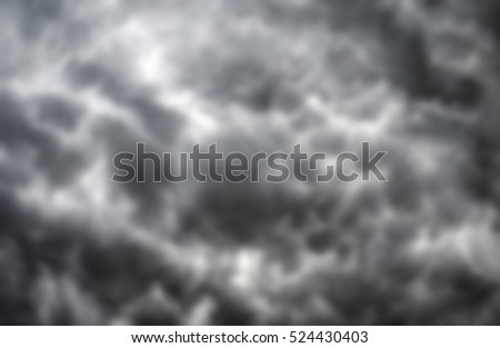 blurred sky background of storm clouds
