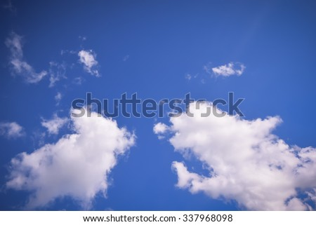 Blurred Sky with cloud