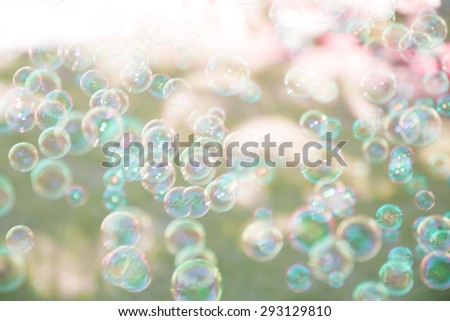 blurred soap bubble background - stock photo