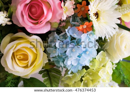 Blurred spring bouquet for background.
