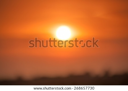 Blurred Sunset - stock photo