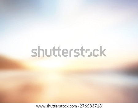 Blurred sunset on the beach. Summer holidays concept. - stock photo