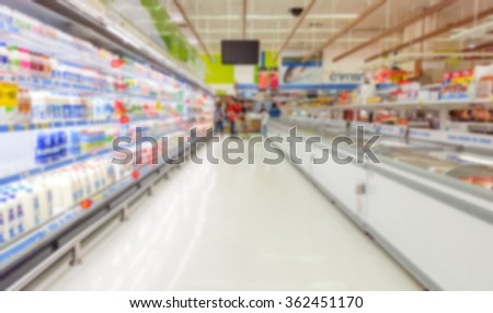 blurred supermarket background