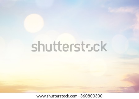 Blurred sweet color bright background of tropical summer nature with circle bulbs lens lights.abstract golden hour dusk backdrop:sunshine glowing illuminated sun rays.motion colorful gradient display - stock photo