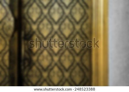 blurred Thai's traditional pattern - stock photo