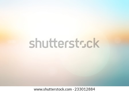 Blurred the beach backdrop - stock photo