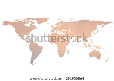 blurred twilight sky world map isolated on white backgrounds - stock photo
