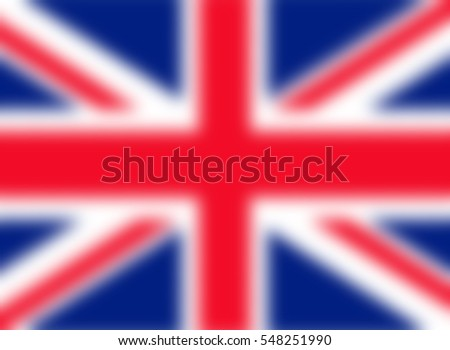 Blurred UK Union Jack flag background