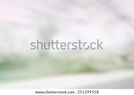 Blurred under blue sky with fast from moving car. - stock photo