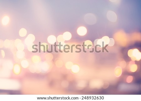 Blurred urban traffic background scene in the night - stock photo