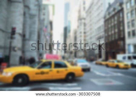 blurred view of new york city for background