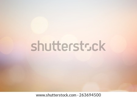 Blurred vivid sweet bright background of calm nature landscape with circle bulbs lens light.abstract ideal bright golden hour backdrop:sunshine shiny illuminated sun rays color orange gradient display - stock photo