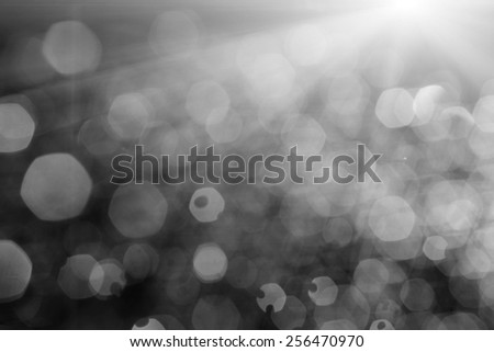 Blurred water drops in the air backlit - stock photo