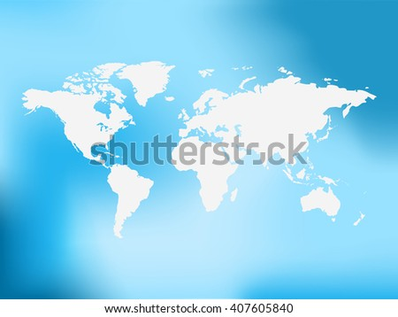 Blurred World Map background. Raster version. - stock photo