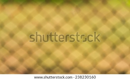 Blurred Yellow wire fence  background beautiful bokeh