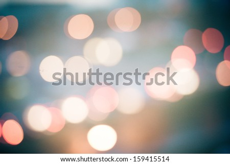Blurry background circles - christmas lights background - stock photo
