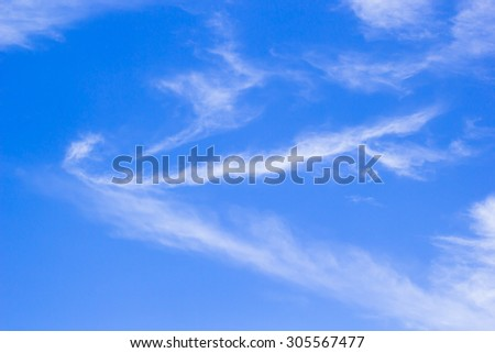 blurry blue sky and white clouds cluster background with sunshine sunny light:peaceful nature landscape:abstract soft focus natural summer:ozone relaxing:blur above earth planet wallpaper for design.