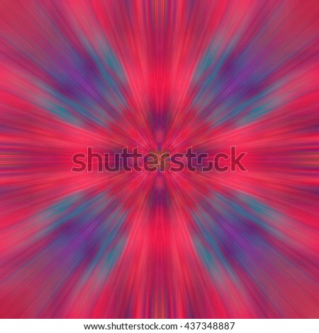 blurry bright colorful geometric abstract decorative pattern with a kaleidoscope effect. for greetings or wrapping paper