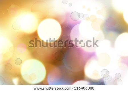 Blurry bright lights Christmas background - stock photo