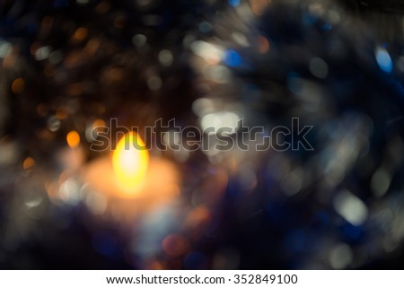 blurry candle  backgrounds in the Light. - stock photo