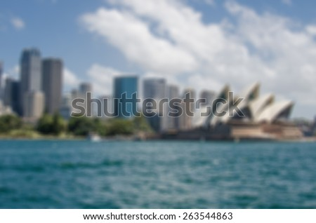Blurry City Background