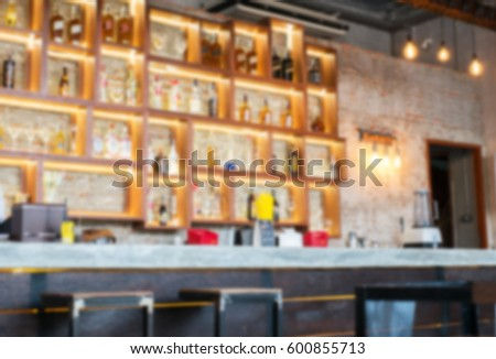 blurry counter bar background