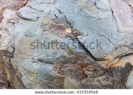 blurry image of natural stone patterned textures background. - stock photo