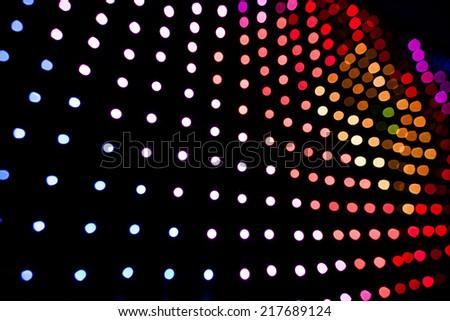 Blurry LED lights panel isolated on black Background - stock photo