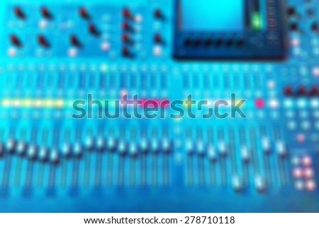 Blurry of power mixer background - stock photo
