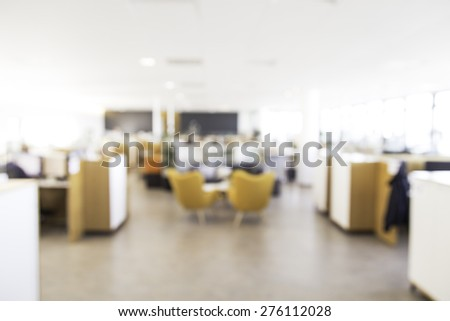 Blurry office background, perfect to use for backdrop in advertisements or other designs - stock photo