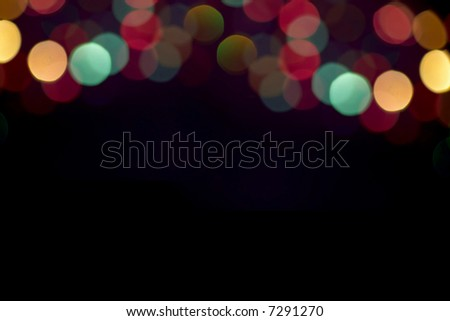 Blurry pattern of colorful decoration stars - stock photo