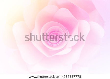 blurry photo of rose paper background with gradient