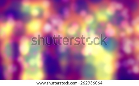 Blurry photos with bokeh effect - stock photo