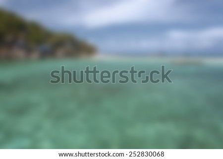 blurry sea landscape for background for graphic design - stock photo