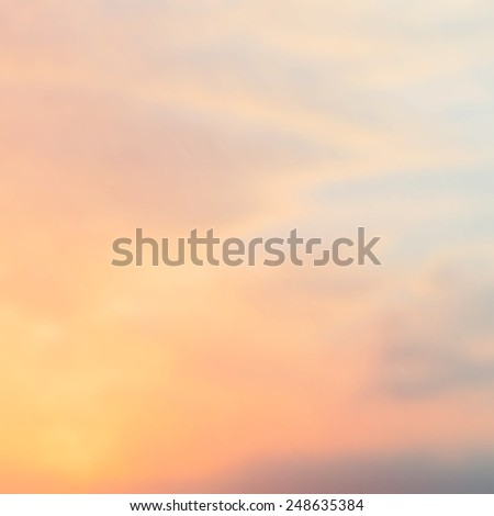 Blurry sunset with pastel sky, retro filter effect - stock photo