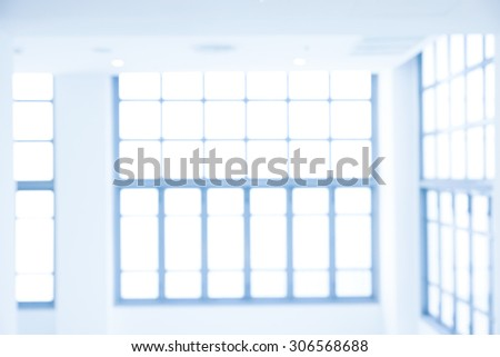 Blurry windows as abstract background - blue tone