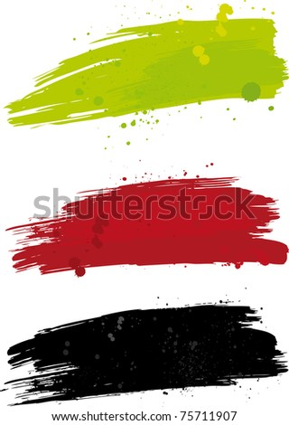 Blurs with blobs Raster picture. - stock photo