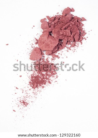 Blush isolated over white