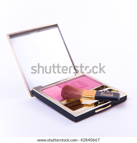 blush with brush isolated