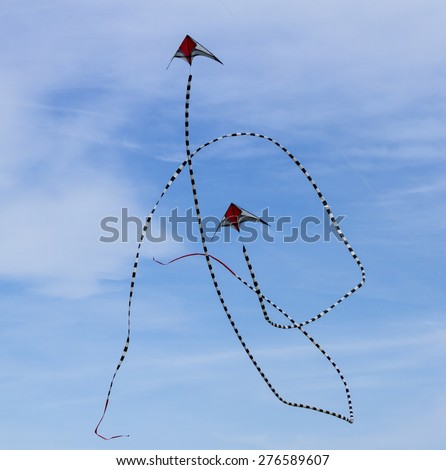 BLYTH, NORTHUMBERLAND, ENGLAND, MAY 4, 2015. Annual Kite Festival takes place at Blyth. May 4, 2015, Blyth, Northumberland, Engand, UK.