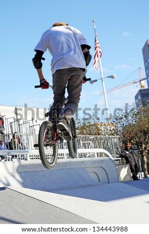 BMX jump - stock photo