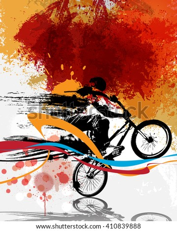 BMX, sport illustration