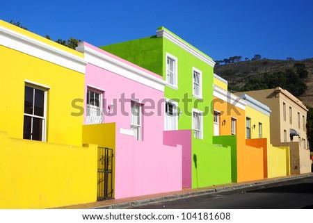 Bo-Kaap, Malay Quarter, Cape Town - stock photo