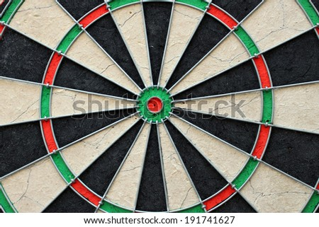 Board for the game of darts, dartboard, target