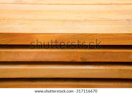 Board Pine Wood in stacks. Tree Texture - stock photo