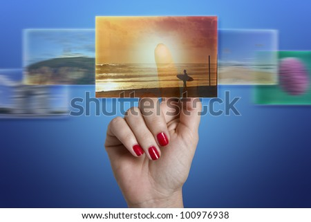 Board presentation - stock photo
