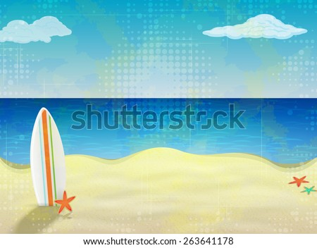 Board To Surf On A Sandy Beach