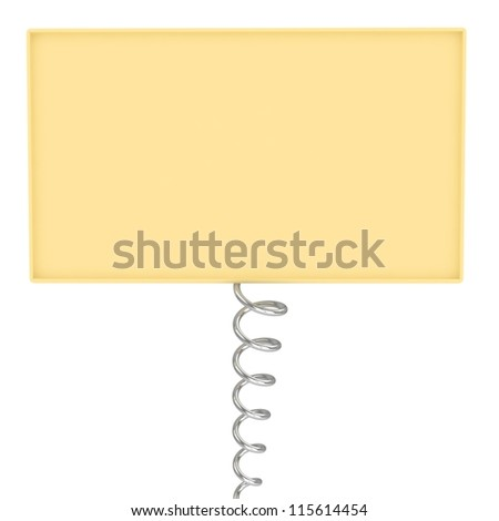 Board with spring - stock photo