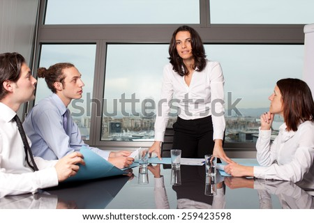 boardroom meeting - stock photo
