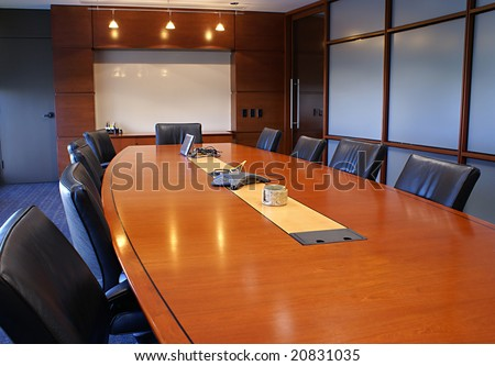 Boardroom or meeting room. - stock photo